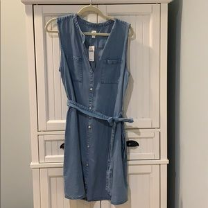 Gap Women's Denim button down Shirt-Dress